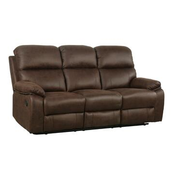 Divano reclinabile Eldar 3 posti Choco