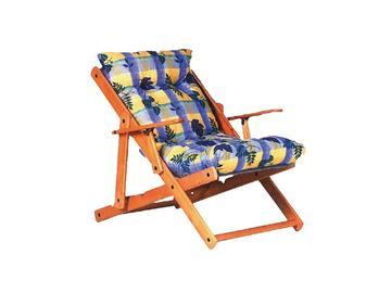 Poltrona HARMONY con telaio in legno e seduta imbottita. Ideali per esterno e interno. Schienale regolabile,struttura chiudibile. Ottima per la tua pausa relax.