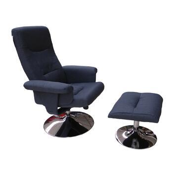 Elegante poltrona reclinabile in tessuto intrecciato,grazie al pouf abbinato si trasforma da poltrona ufficio in comoda poltrona pausa relax. Disponibile in diversi colori.