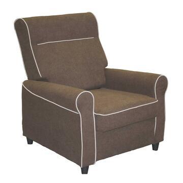 Poltrona GAVIA reclinabile in tessuto con cuciture a contrasto, ideale per i tuoi momenti di relax.