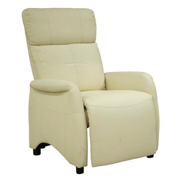 Poltrona Alissa reclinabile in ecopelle con cuciture a contrasto, ideale per i tuoi momenti di relax.