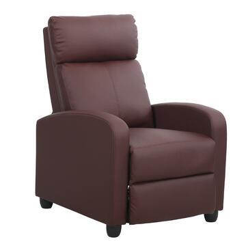 Poltrona imbottita Kippy, color bordeaux, reclinabile. Ideale per i tuoi momenti di relax.