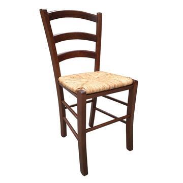 Sedia PAESANA NOCE con seduta in paglia.