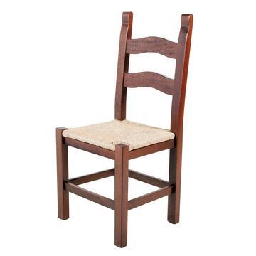 Sedia RUSTICONA con seduta in paglia.