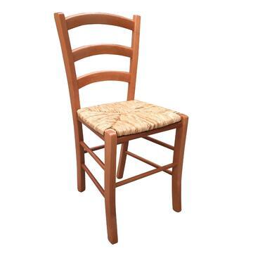 Sedia PAESANA seduta in paglia. Comoda e resistente.