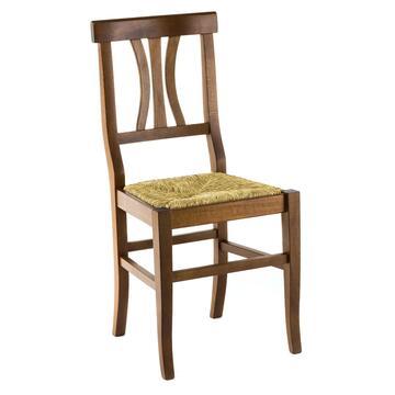 Sedia con decoro seduta in paglia