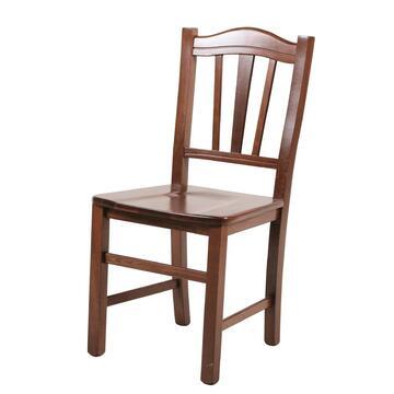 Sedia SILVANA in legno seduta in legno.