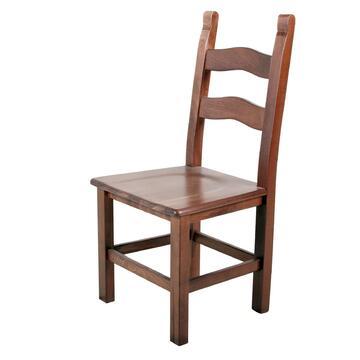 Sedia RUSTICONA seduta in legno sagomato.