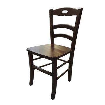 Classica sedia in legno con seduta in massello