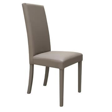 Sedia DENVER con schienale e seduta imbottiti. Ottima stabilitÓ e comfort grazie allo schienale alto!