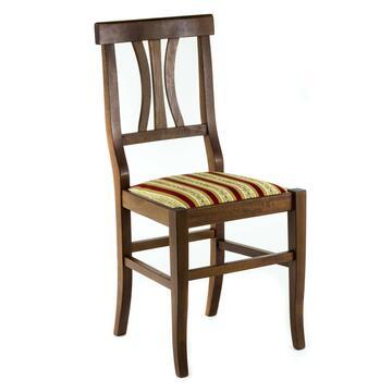 Sedia con decoro seduta in stoffa a righe