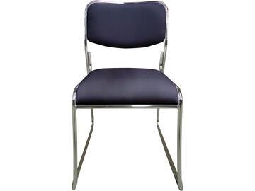 Sedia MAGDA nera in metallo con seduta e schienale imbottiti e rivestiti in ecopelle. Sono disponibili in tante differenti colorazioni.