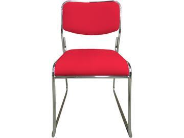 Sedia MAGDA rossa in metallo con seduta e schienale imbottiti e rivestiti in ecopelle. Sono disponibili in tante differenti colorazioni.