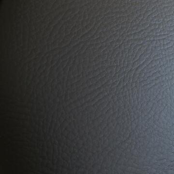 Sedia da ufficio Nera in ecopelle imbottita con struttura in metallo