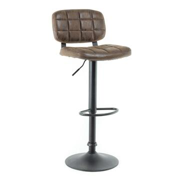 Sgabello Vinty da bar marrone in design moderno! Adatto...