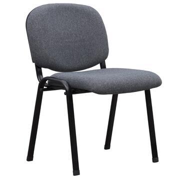 Sedia da ufficio Beta grigio, imbottita con struttura in metallo.