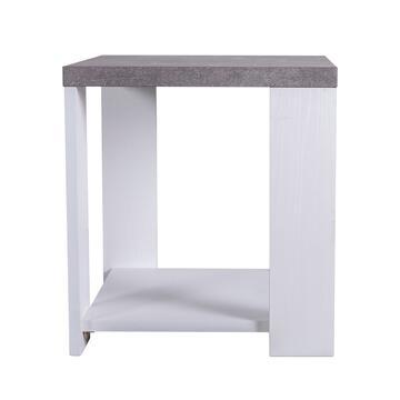Tavolino Adorà Bianco/Cemento 52 X 51, altezza 56