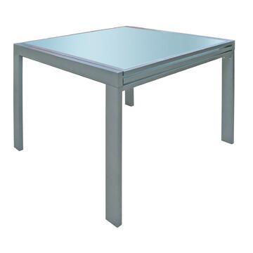 Pratico tavolo allungabile con apertura a libro. Piano...