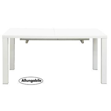 Ampio tavolo allungabile bianco laccato. Grazie alla prolunga puoi allungare il tavolo in 3 possibili misure e ricavare facilmente spazio in piu. Linee geometriche e pulite,un tocco moderno abbinato ad un'estrema praticita.