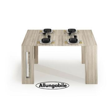 Struttura moderna e pratica, 2 colori disponibili. Grazie alla comoda struttura allungabile il tavolo Modern ti offre 3 possibili misure in una soluzione salva spazio grazie ai piani ad incastro. L'intera struttura chiusa si trasforma in un'elegante conso