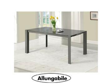 Elegante tavolo allungabile 134/184 x 80 dalle linee pulite e moderne, colore tortora.