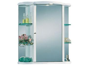 Specchiera contenitore. 1 anta centrale a specchio pi¨ 2 mensole a destra e due a sinistra