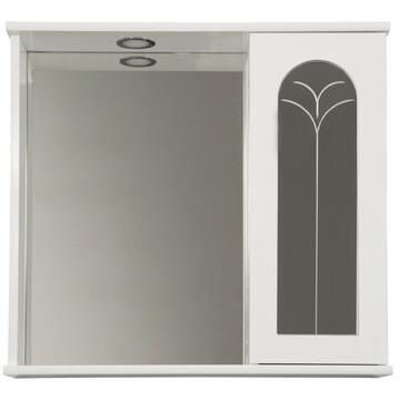 Specchiera Palme con mobiletto 1 anta Dx Bianca