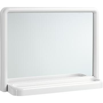 Specchiera da bagno bianca 35x46, con mensolina.