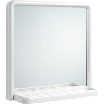 Specchio per bagno Bianco con mensola 50 X 50