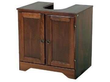 Copricolonna bagno in legno con 2 comode ante.