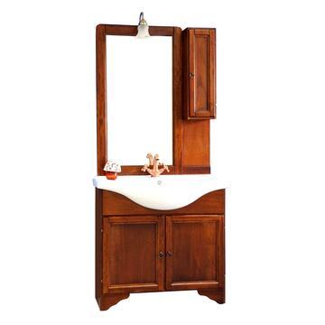 Mobile bagno Arte Povera con lavabo e specchiera