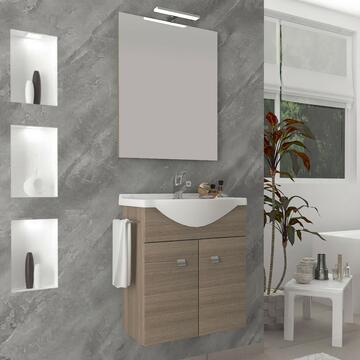Mobile bagno sospeso Zaffiro con lavabo e specchio