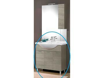 Base composta da 2 ante con chiusura ammortizzata,3 cassetti,lavabo consolle. Abbinabile alla specchiera 203 dlagr.