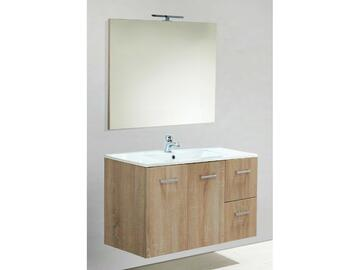 Mobile bagno Claudia completo di lavabo e specchiera. Design moderno ed elegante.   Portalampada a led incluso.