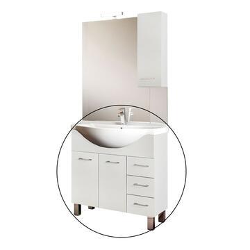 Mobile bagno Gaia Bianco con lavabo
