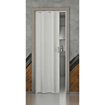 Porta a soffietto con telaio espandibile bianca