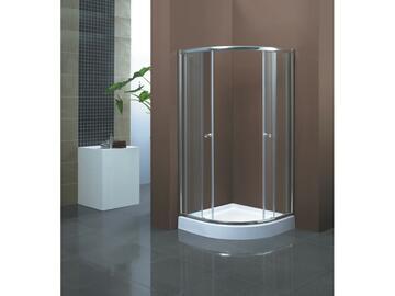 Box doccia Moon 90x90 in alluminio cromato. Piatto doccia incluso
