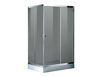 Box doccia in alluminio cromato, piatto doccia incluso