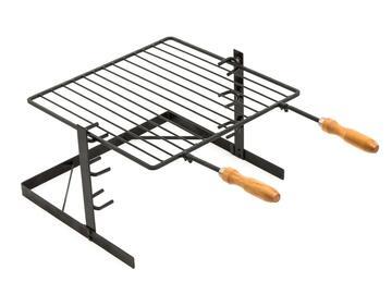 Griglia smontabile per caminetto e barbecue, 40x50 cm