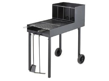 Barbeque Super Dragone a carbone, trasportabile, 50x90