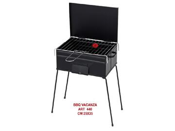 Barbeque valigetta a carbone, richiudibile, 25x35
