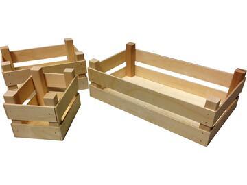 Cestino in legno multiuso 25x14x10