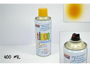 Bomboletta di vernice spray, da 400 ml, color giallo.