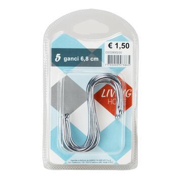 Confezione 5 ganci ad S cm.6,8