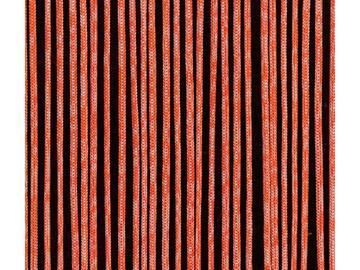 Tenda Rope con nastri in tessuto spesso, disponibile in due colori. Installazione su parete.