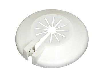Rosetta universale plastica bianca