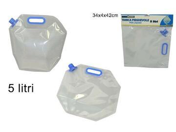 Tanica pieghevole di plastica 5 Litri con Manico