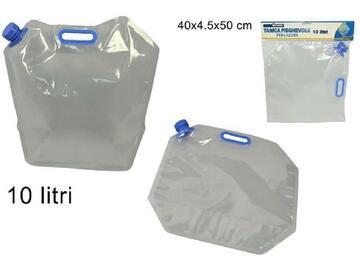Tanica pieghevole di plastica 10 Litri con Manico