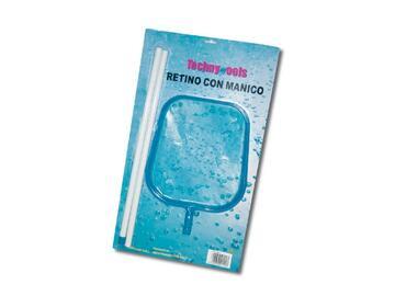 Retino per pulizia piscine in superficie, con manico...