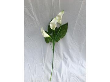 Calla 3 fiori bianchi 95 cm